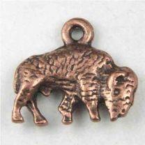 Antique Copper Plate 9x15MM Bison Charm