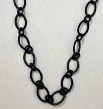 Antique Copper Plate 9x6MM Long Short Flat Cable Chain