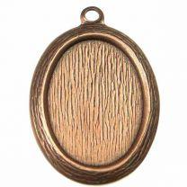 Antique Copper Plate Textured 18X13MM Bezel Setting