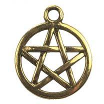 Antique Gold Plate 16MM Pentagram