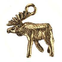 Antique Gold Plate 18x15MM Moose