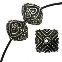 Antique_Silver_Bali_Style_14x12MM_Square_Bicone_With_15MM_Large_Hole