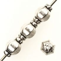 Antique Silver Plate 10x7MM Collared Ball