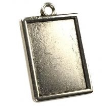 Antique Silver Plate 20x15MM Setting Pendant