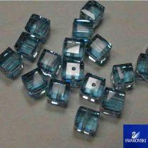 Aqua 6MM Cut Cube Swarovski