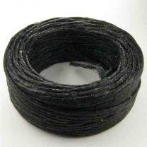 Black Cord Wax Linen