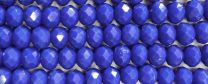 Blue 6x4MM Faceted Rondelle
