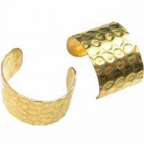 Brass 10MM Wide Hammered Ear Cuff
