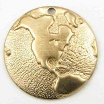Brass 18mm Domed Globe Pendant