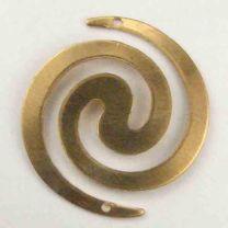 Brass 25MM Spiral Connector