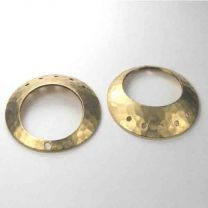 Brass 26MM Domed Hammered Ring
