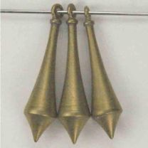 Brass 26x6 Solid Tapered 3-D Drop