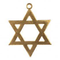 Brass 34MM Star of David