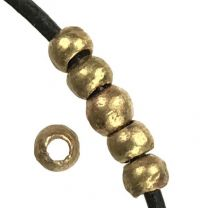 Brass 4-5MM Hand Formed Ball With 2MM Hole