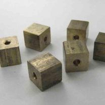 Brass 5MM Solid Cube Bead