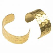 Brass 7MM Wide Ear Cuff With Imprited Detail