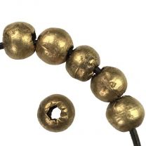Brass 8-9MM Hand Formed Ball With 2MM Hole