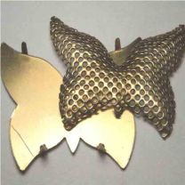 Brass Butterfly Collage Cage with Pronged Base