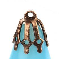 Brass Filigree 10MM Bell Cap