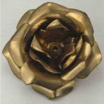 Brass Rose 32x18 Stamped 3D