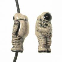 Ceramic Astronaut Bead 17x8MM
