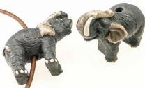 Ceramic Elephant Bead 23x27MM