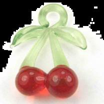 Cherry Blown Glass 20x16MM Pendant