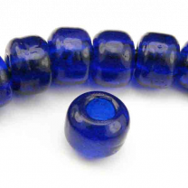 Cobalt 9x7MM Crow Bead With 3MM Large Hole
