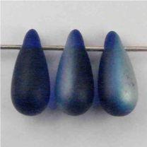 Cobalt Matte AB 12x6MM Tear