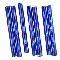 Cobalt Silver Lined 25MM Twisted Bugle