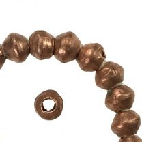 Copper 4-5MM Hand Formed Ball With 2MM Hole