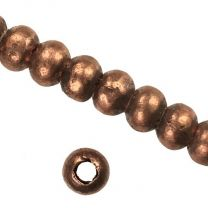 Copper 8-9MM Hand Formed Ball With 2MM Hole