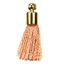 Coral With Gold Plate 17MM Tassel