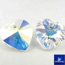 Crystal Ab 10MM Swarovski Heart Pendant