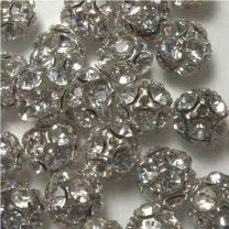 Crystal With Gold Plate 10MM Rhinestone Ball