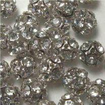 Crystal With Silver 10MM Rhinestone Ball