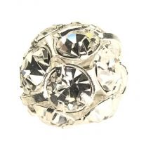 Crystal With Silver Plate 12MM Rhinestone Ball