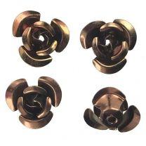 Dark Bronze Iris 11x6MM Aluminum Rose