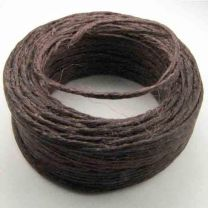 Dark Brown Cord Wax Linen