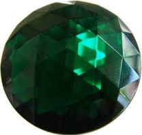 Emerald 35MM Flatback Facetted