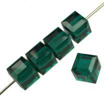 Emerald 6MM Cut Cube Swarovski
