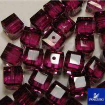 Fuchsia 6MM Cut Cube Swarovski