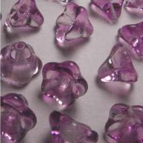 Fuchsia With Crystal 2 tone 10x12MM Bell Flower