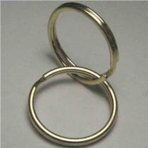 Gold Color 32MM Split Key Ring