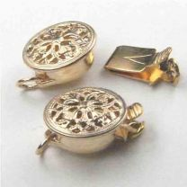 Gold Filled 9MM Round Filigree Box Clasp