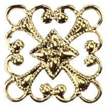 Gold Plate 12MM Diamond Filigree