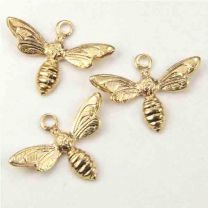 Gold_Plate_13x7MM_Bee_