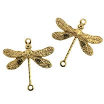 Gold Plate 14x18MM Dragonfly Connector