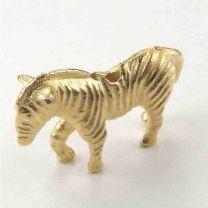 Gold Plate 14x21 Zebra Bead 3-D
