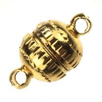 Gold Plate 14x8MM Magnetic Ball Clasp